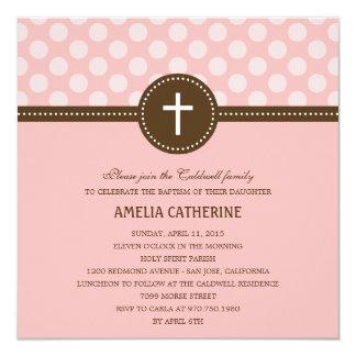 Delightful Dots Baptism/Christening Invitation