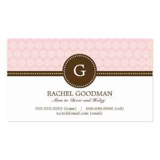 Delightful Dots Mommy Card / Personal Calling Card Double-Sided Standard Business Cards (Pack Of 100)