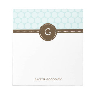 Delightful Dots Personalized Notepad Memo Notepads