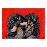 Delightful Doxie Duo Greeting Card
