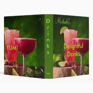 Delightful Drinks cookbook Binder
