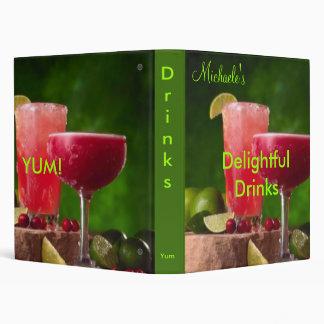 Delightful Drinks cookbook Binder