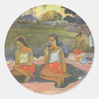 Delightful Drowsiness, Gauguin, Impressionism Art Sticker