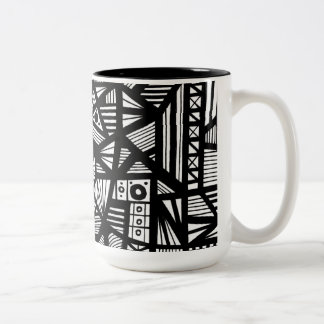 Delightful Floral Manly Beautiful Two-Tone Coffee Mug