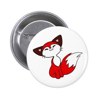 Delightful Fox Pinback Buttons