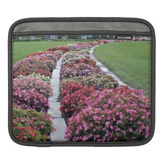 Delightful fresh flowers arrangement in park sleeves for iPads