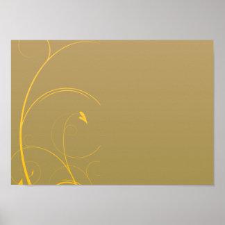 Delightful golden yellow swirl Christmas gift Posters
