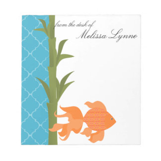 Delightful Goldfish Memo Pad