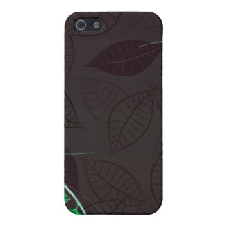 Delightful green blossom brownish leaves iPhone 5 case