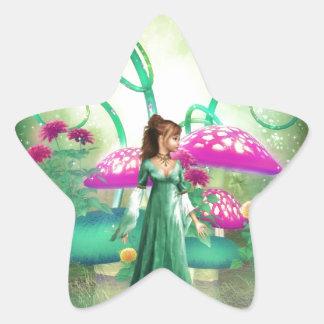 Delightful Green Star Sticker