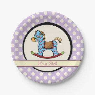Delightful Hearts Rocking Horse Paper Plates  sc 1 st  Zazzle & Saddle Horses Plates | Zazzle