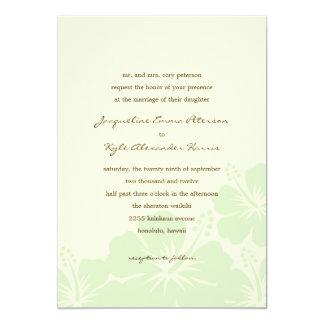 Delightful Hibiscus Wedding Invitations (Green)