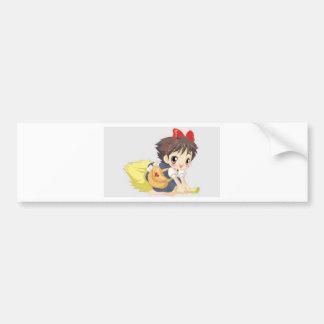 Delightful little girl bumper sticker