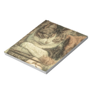 delightful, lovely calico cat design note pads