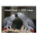 Delightful Parrots 2015 Animal Wall Calendar