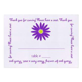 Delightful Purple Daisy Seating Card Large Business Cards (Pack Of 100)