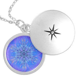 Delightful Snowflake on blue and purple Pendants