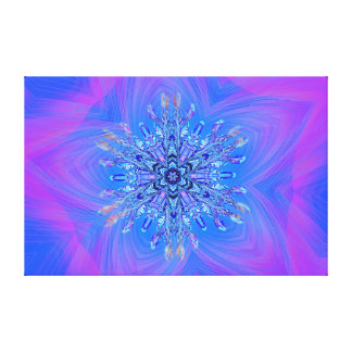 Delightful Snowflake on Purple and Blue Stretched Canvas Prints