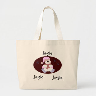 Delightful Snowman Large Tote Bag