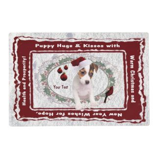 Delightful Sweet Jack Russell Pup Clear High Gloss Placemat