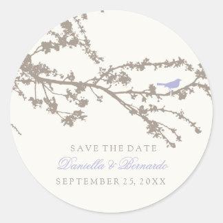 Delightful Tree Top Bird-Save The Date Sticker