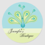 Delightfully Feathered! Classic Round Sticker