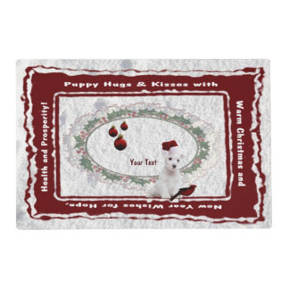 Delightfully Sweet Westie Puppy Clear High Gloss Placemat