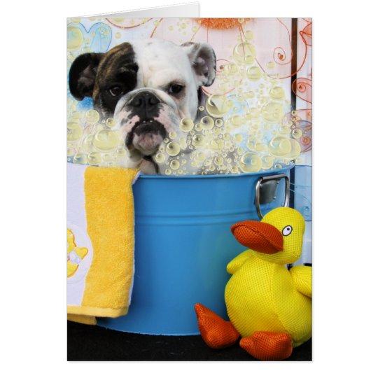Delilah - English Bulldog Card