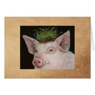 Delilah la tarjeta del cerdo