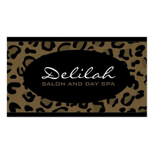 Delilah Leopard Print Black Chic Business Card