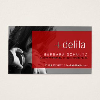 Delila's Face [red] Business Cards