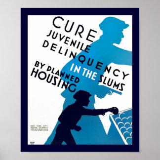 Delincuencia juvenil de la curación en los tugurio posters