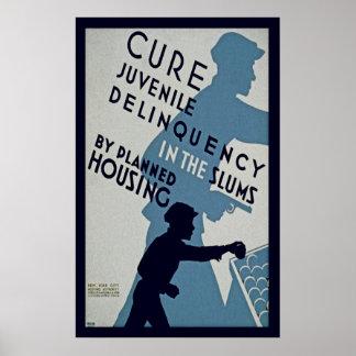 Delincuencia juvenil de la curación posters