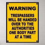 Delincuentes amonestadores posters