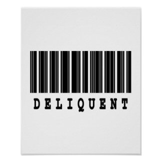 delinquent barcode design poster