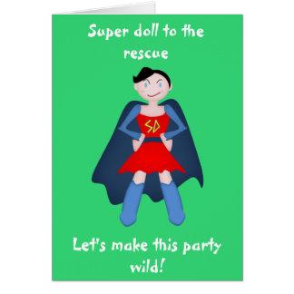 Delinquent Doll Super Hero Card