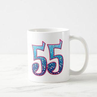 Delirio de 55 edades taza básica blanca
