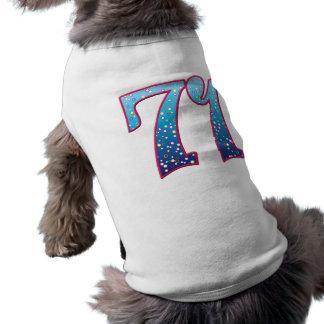 Delirio de 71 edades camisetas de mascota