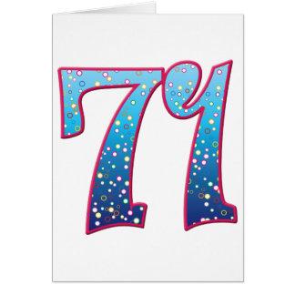 Delirio de 71 edades tarjeta