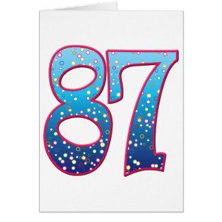 Delirio de 87 edades tarjeta de felicitación