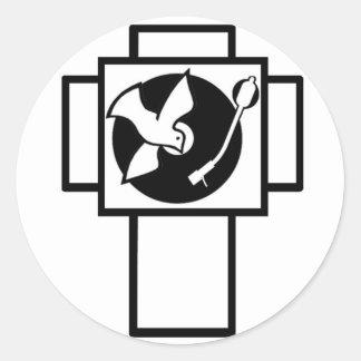 Delirio de Jesús (logotipo) Pegatina Redonda