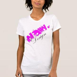 Delirio del rosa del diseño de Wally Camisetas