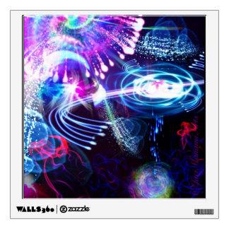 Delirio en la etiqueta de la pared de la galaxia vinilo decorativo