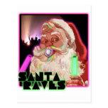 Delirios de Papá Noel - Raver divertido de Santa Tarjetas Postales