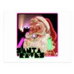 Delirios de Papá Noel - Raver divertido de Santa Postal