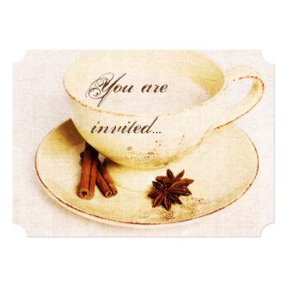 deliscious chai tea cup - tea party invite