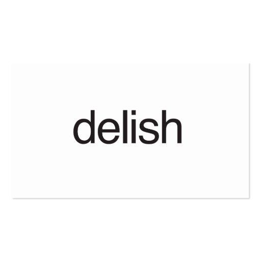 delish.ai business card template