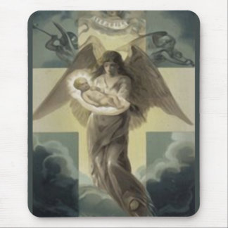 Deliver of the Christ Child by the Angel Gabriel Mouse Pad