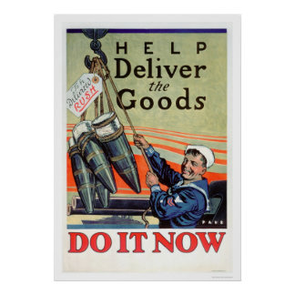 Deliver the Goods - Navy (US02293) Posters