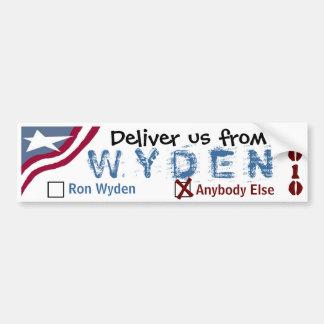 Deliver us from Wyden Car Bumper Sticker